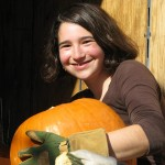 Emily and a Pumpkin